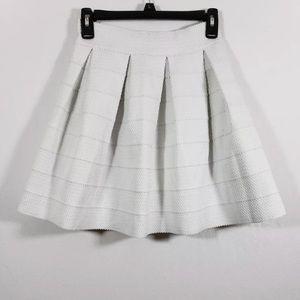 Express Skirt SZ XS Pleated Textured Raw Hem NWT